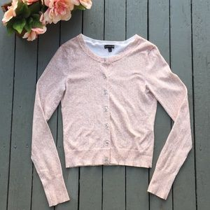 Express Blush Pink Cardigan with Rhinestones